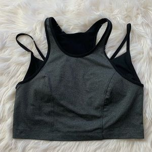 Under armour crop top sports bra medium